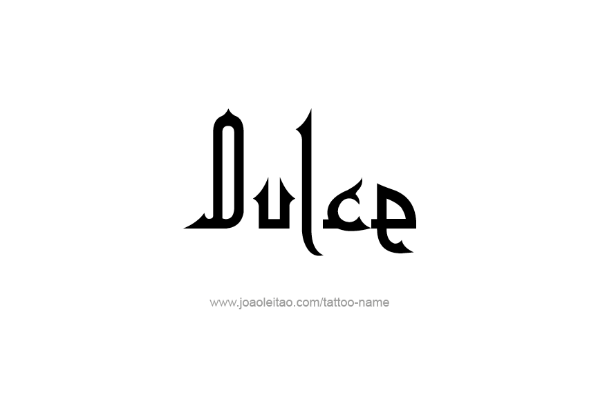 Tattoo Design Name Dulce