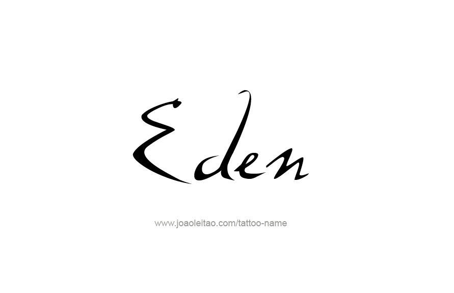 Tattoo Design Name Eden