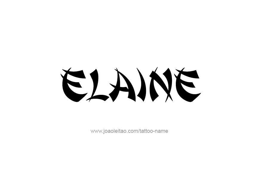 Tattoo Design Name Elaine