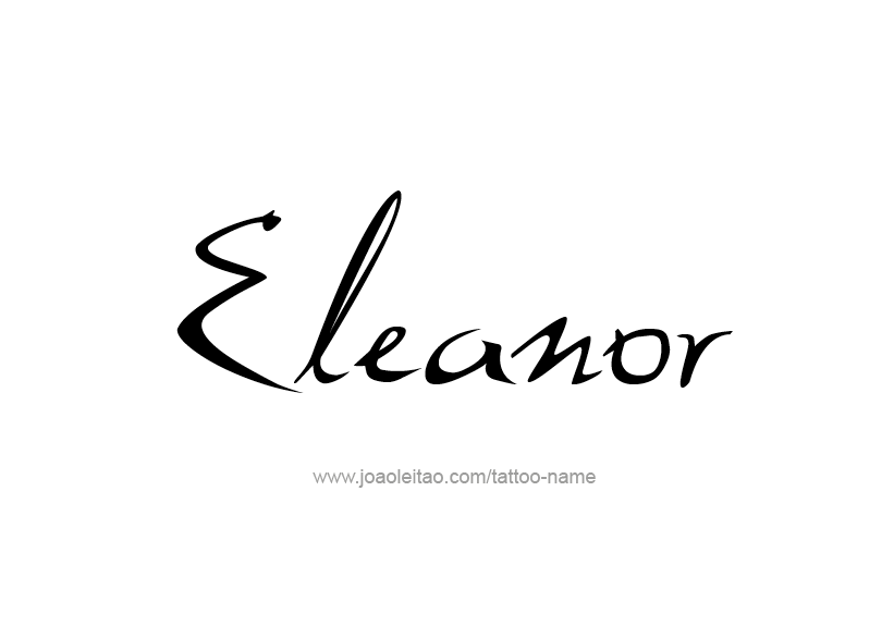 Tattoo Design Name Eleanor