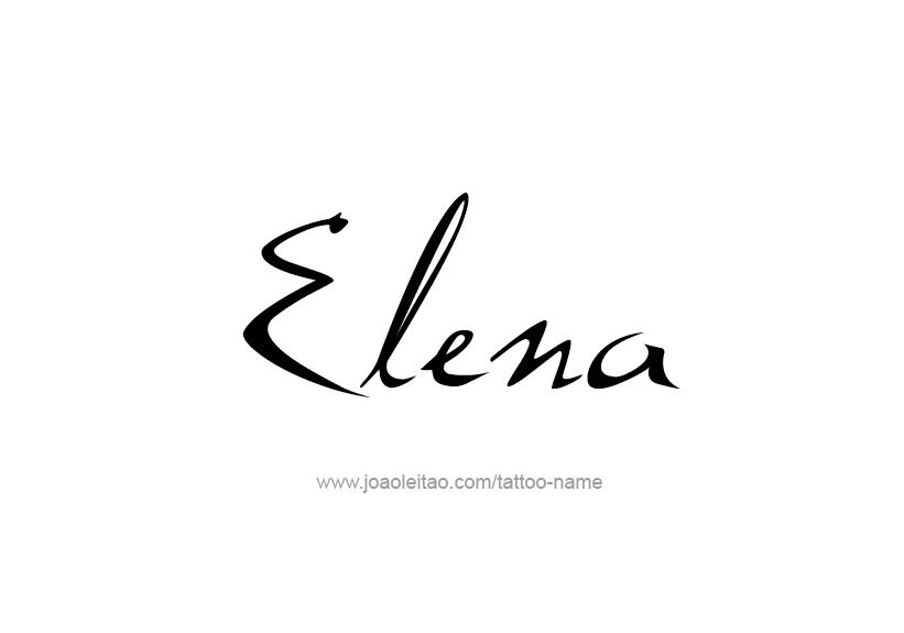 Tattoo Design Name Elena