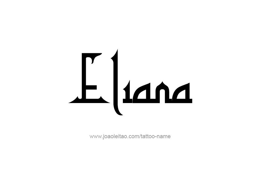 Tattoo Design Name Eliana