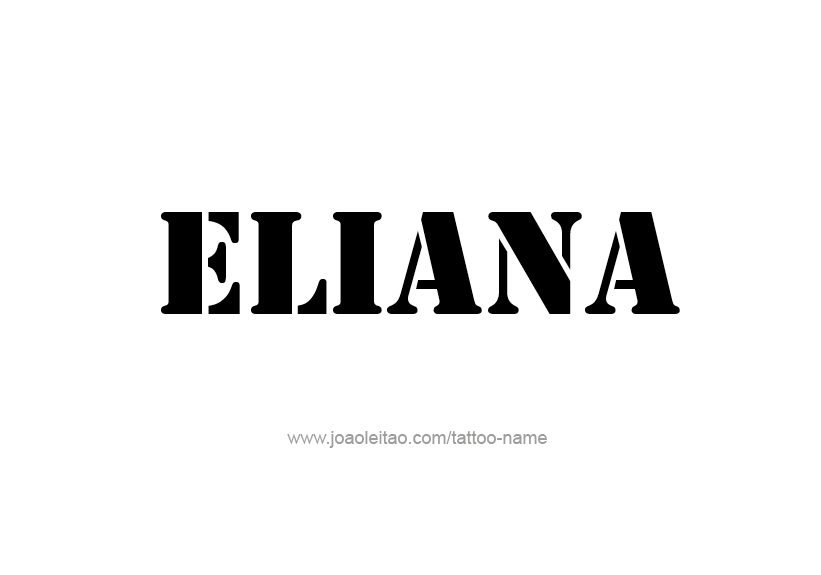 Tattoo Design Name Eliana