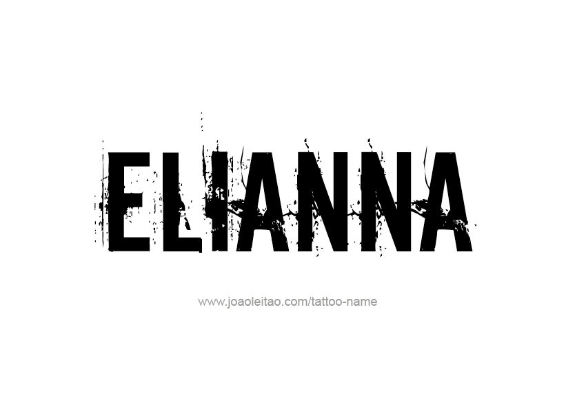 Tattoo Design Name Elianna