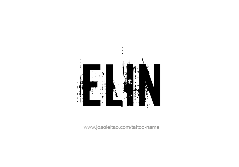 Tattoo Design Name Elin