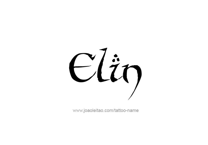Tattoo Design Name Elin