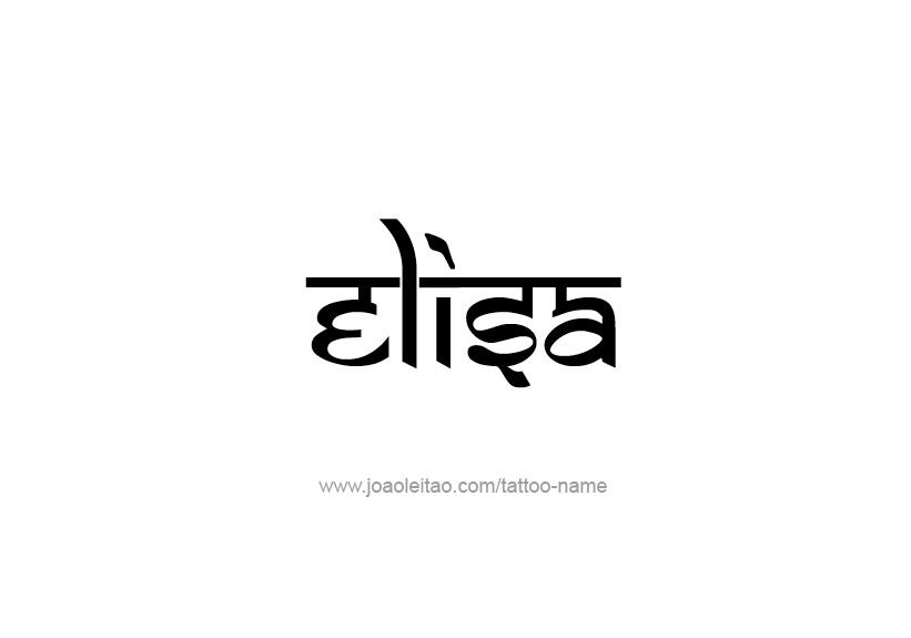 Tattoo Design Name Elisa