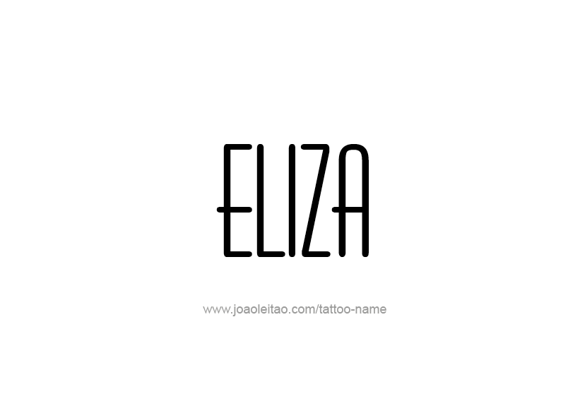 Tattoo Design Name Eliza