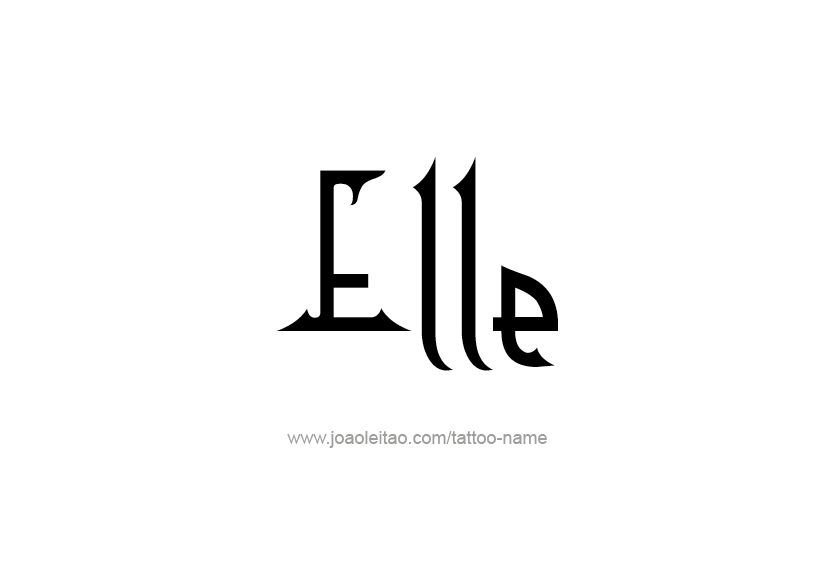 Tattoo Design Name Elle