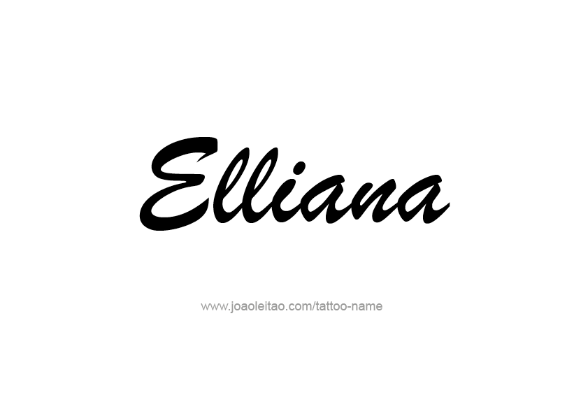 Tattoo Design Name Elliana