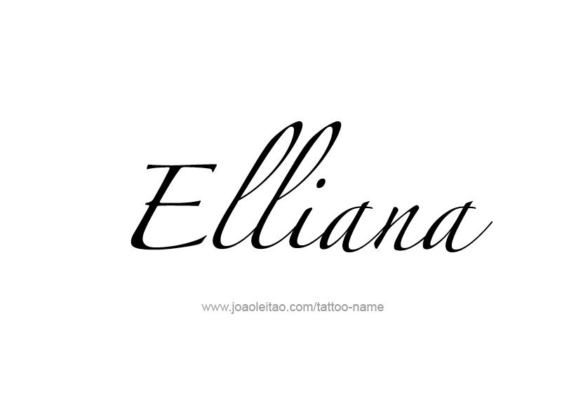 Tattoo Design Name Elliana