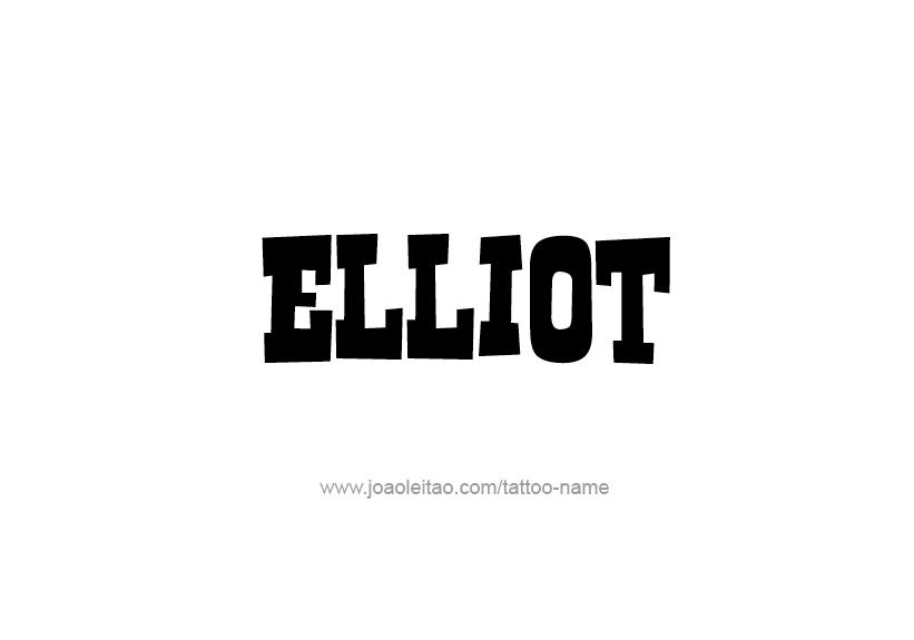 Tattoo Design Name Elliot