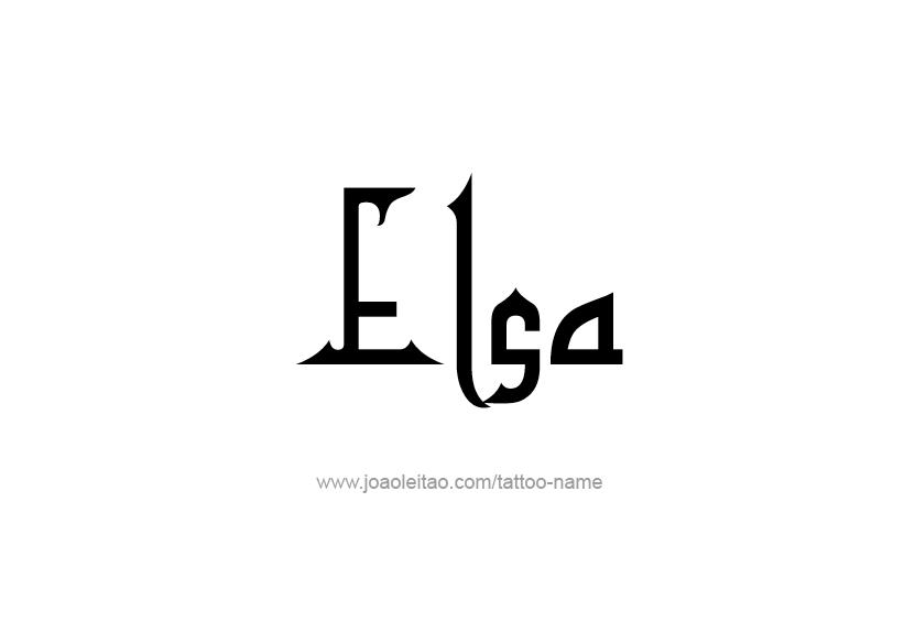 Tattoo Design Name Elsa