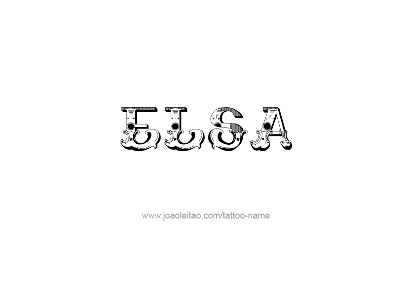 Tattoo Design Name Elsa