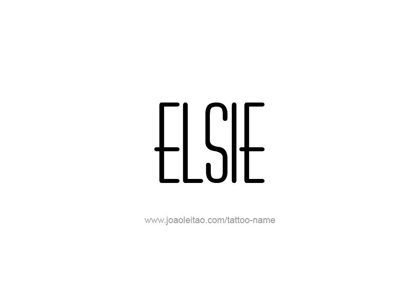 Tattoo Design Name Elsie