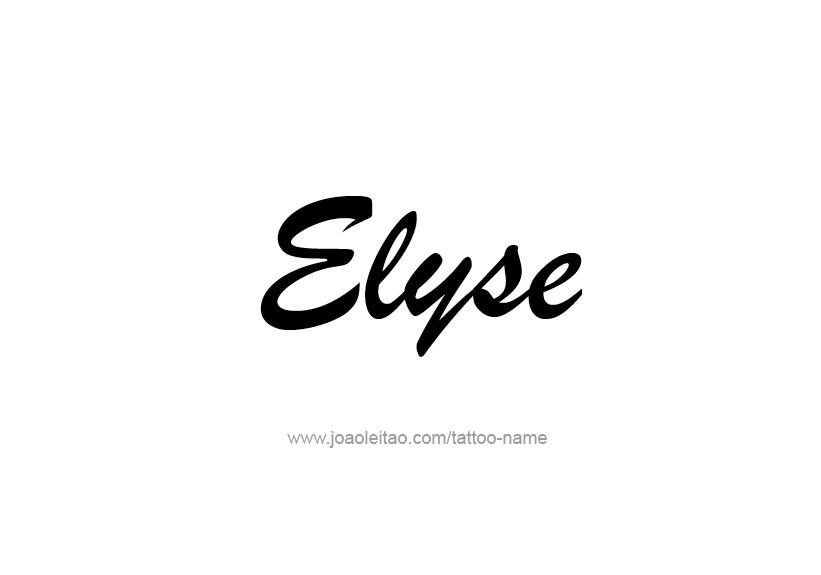 Tattoo Design Name Elyse