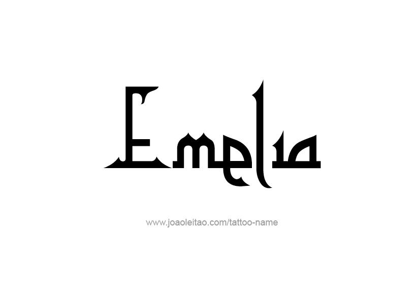 Tattoo Design Name Emelia