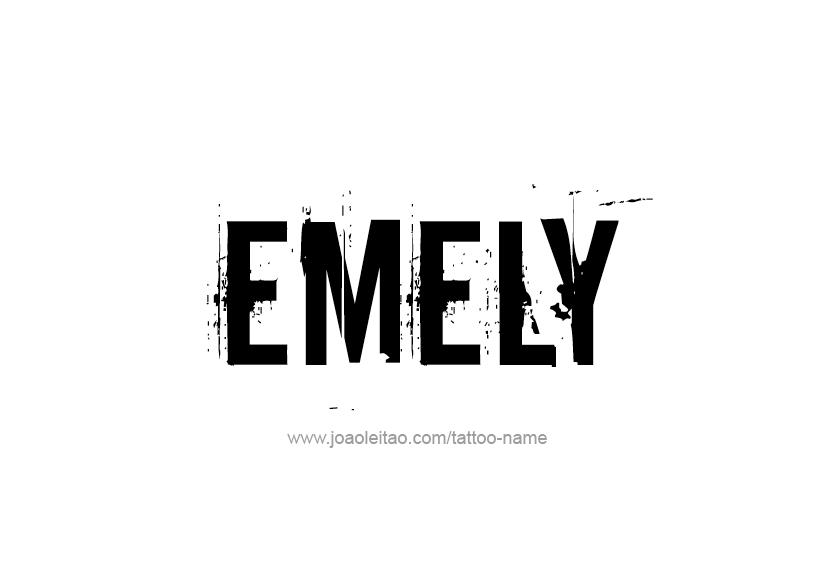 Tattoo Design Name Emely