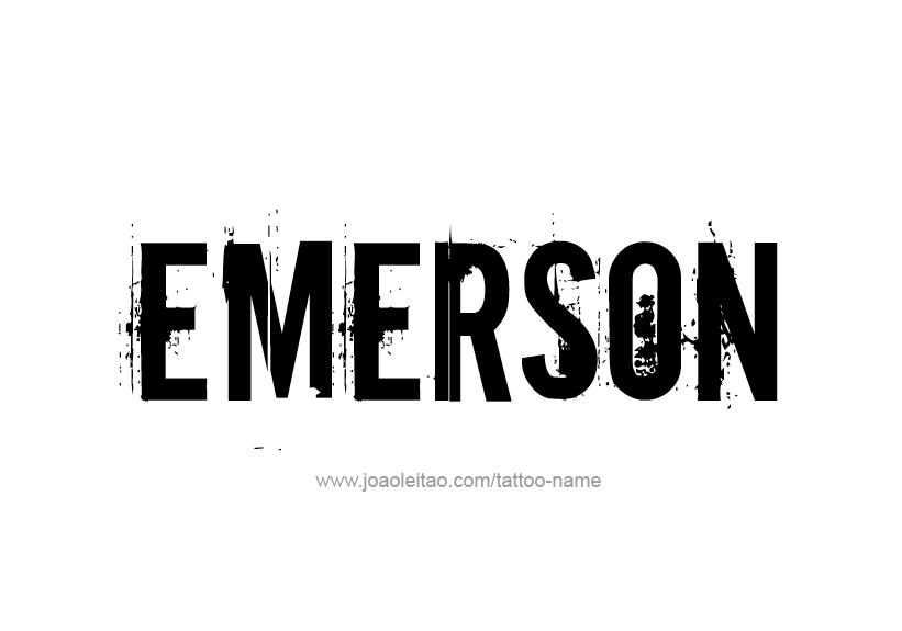 Tattoo Design Name Emerson