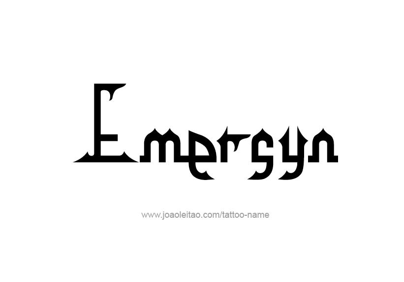 Tattoo Design Name Emersyn