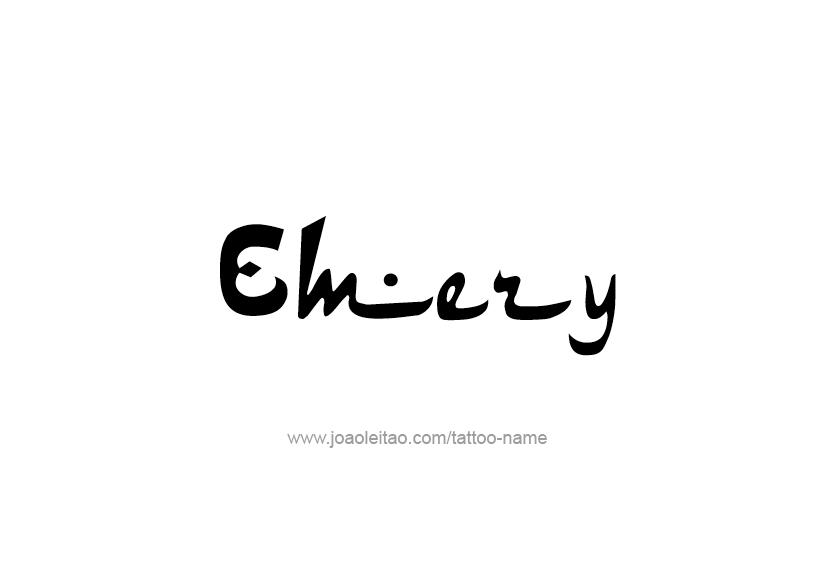 Tattoo Design Name Emery
