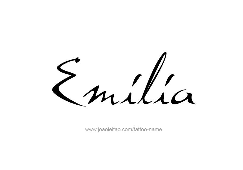 Tattoo Design Name Emilia