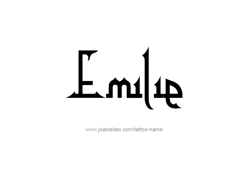 Tattoo Design Name Emilie