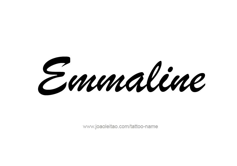 Tattoo Design Name Emmaline