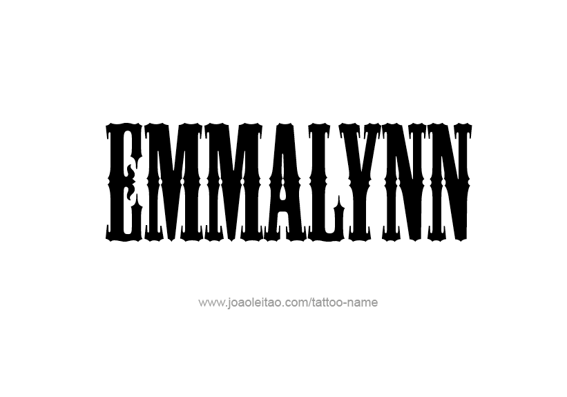 Tattoo Design Name Emmalynn