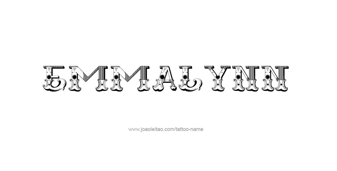 Tattoo Design Name Emmalynn