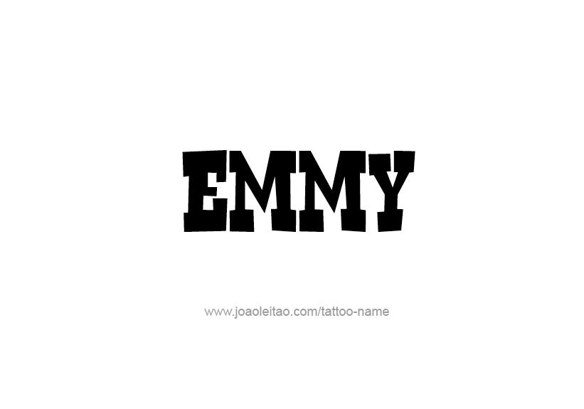 Tattoo Design Name Emmy