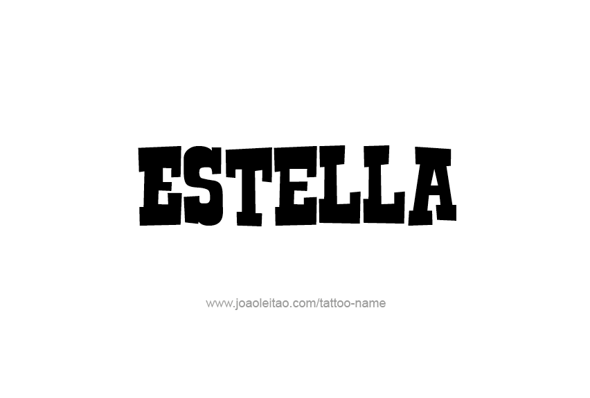 Tattoo Design Name Estella