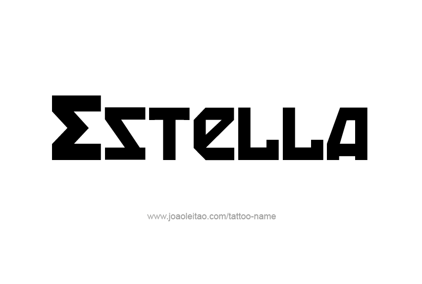 Tattoo Design Name Estella