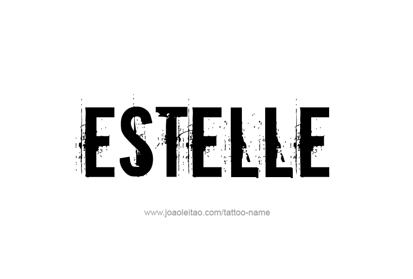Tattoo Design Name Estelle