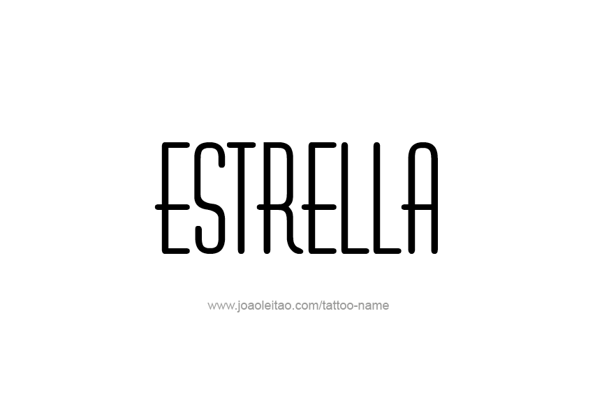 Chinese Name Estrella - Chinese Characters and Chinese Symbols on ...