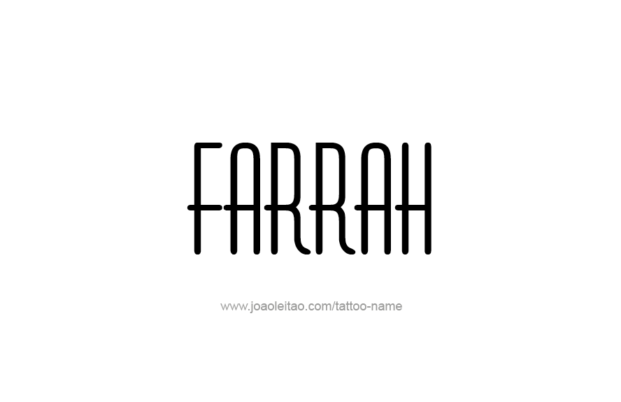 Tattoo Design Name Farrah