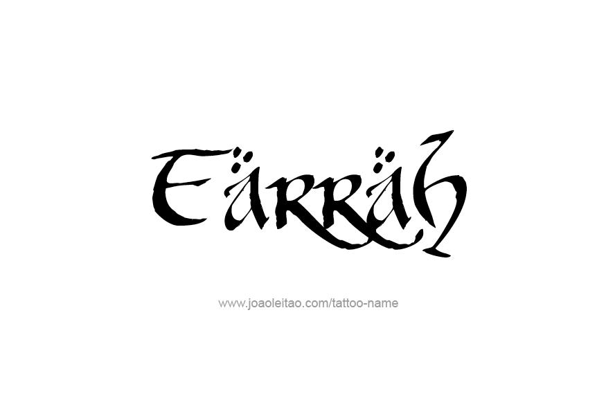 Tattoo Design Name Farrah