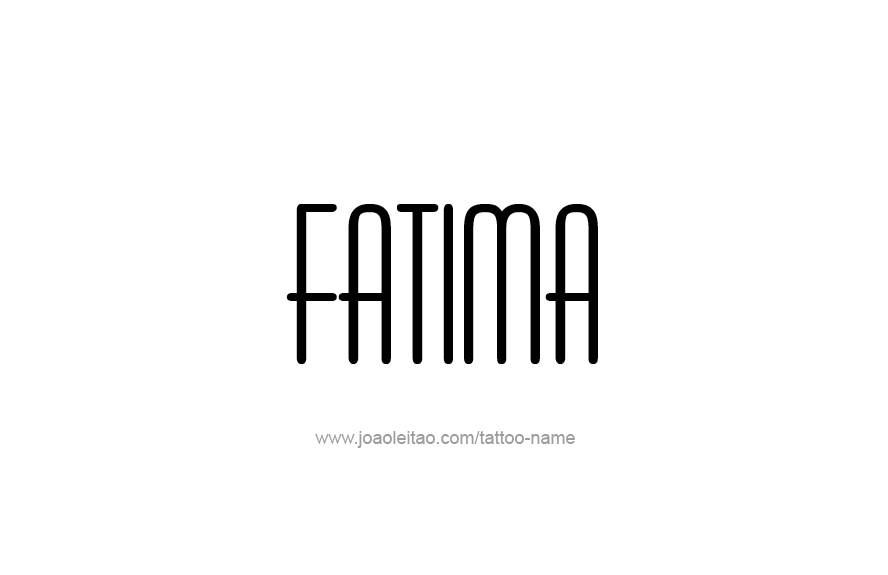 Tattoo Design Name Fatima