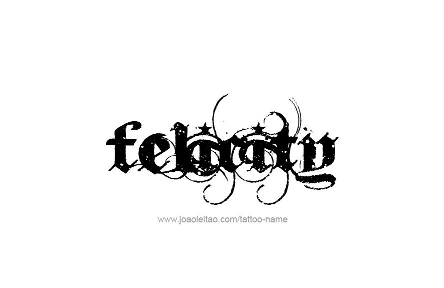 Felicity Name Tattoo Designs