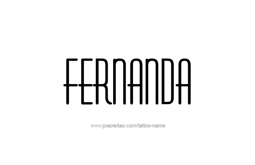 Tattoo Design Name Fernanda