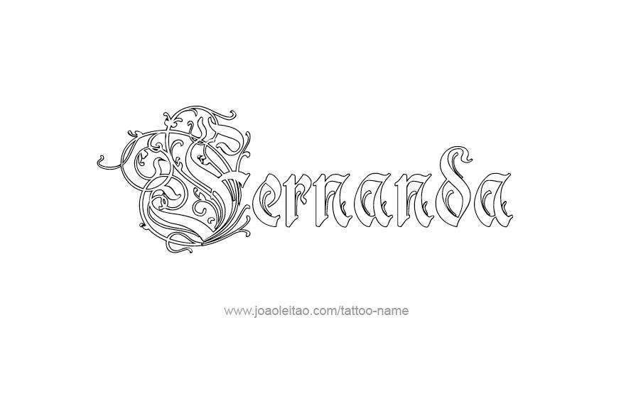 Fernanda Name Tattoo Designs