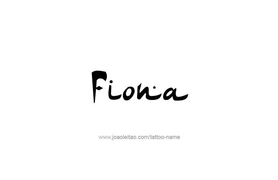 Tattoo Design Name Fiona