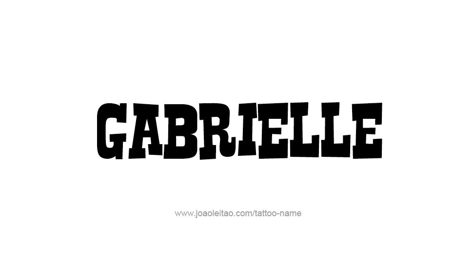 Tattoo Design Name Gabrielle