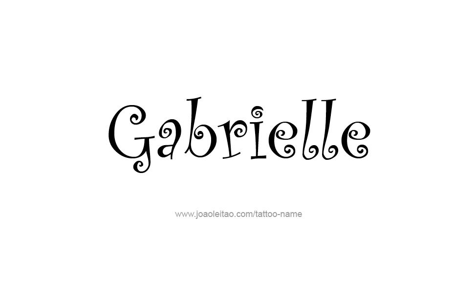 23+ Gabrielle Name Tattoo PNG