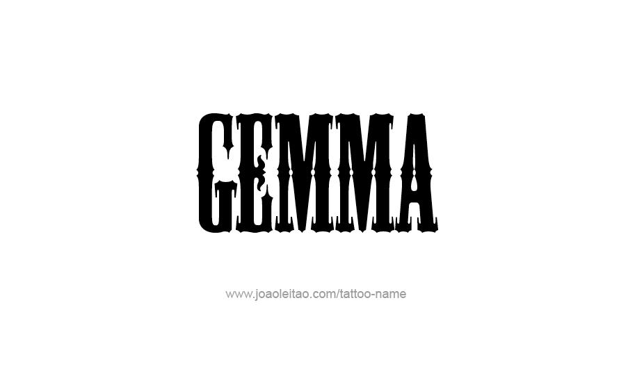 Tattoo Design Name Gemma