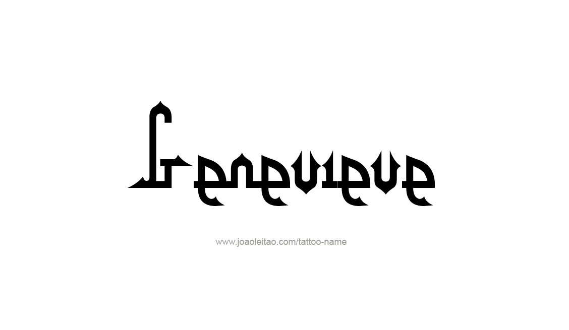 Tattoo Design Name Genevieve