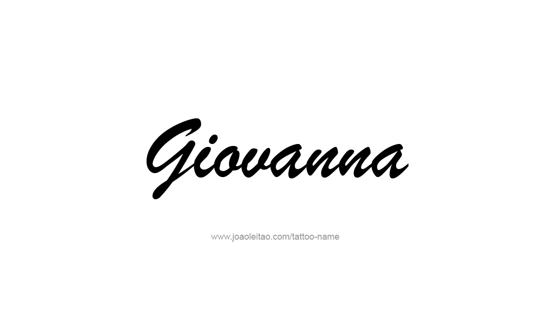 Tattoo Design Name Giovanna