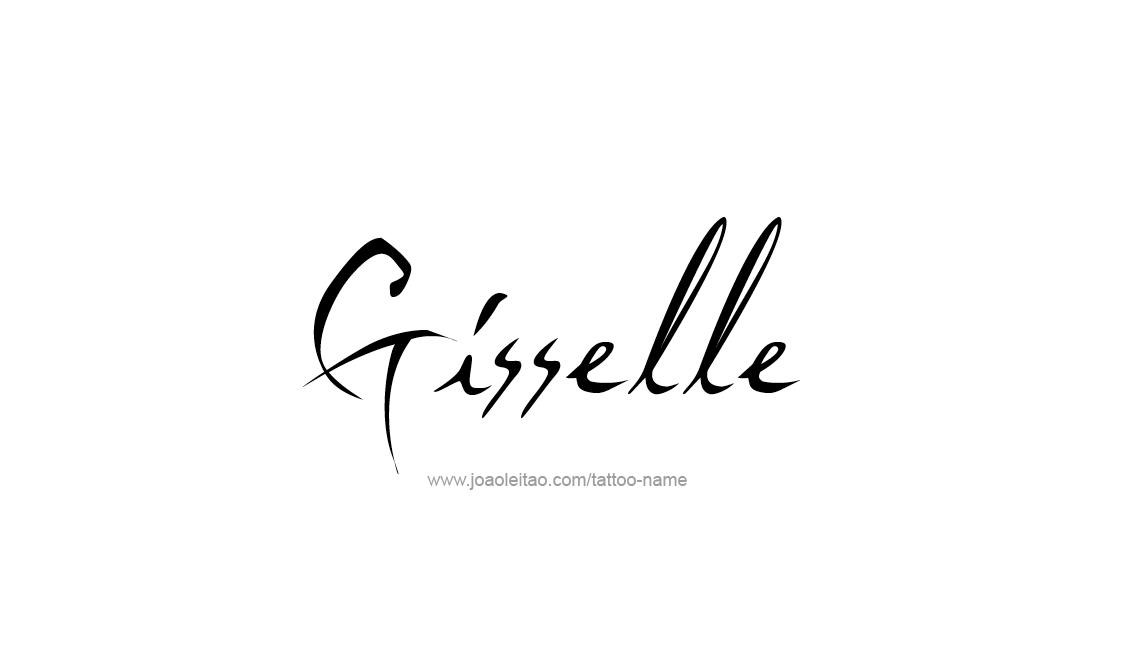 Tattoo Design Name Gisselle