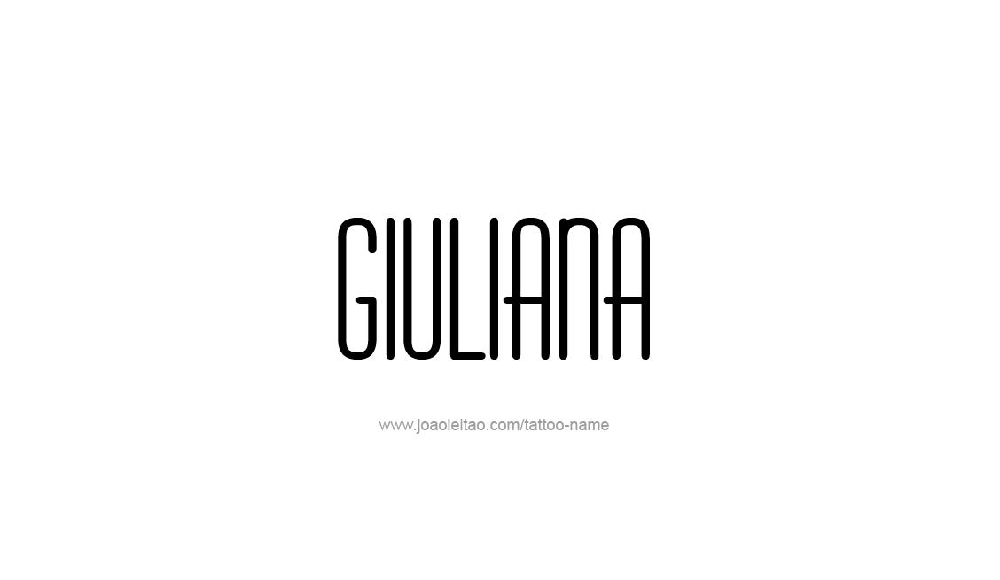Tattoo Design Name Giuliana