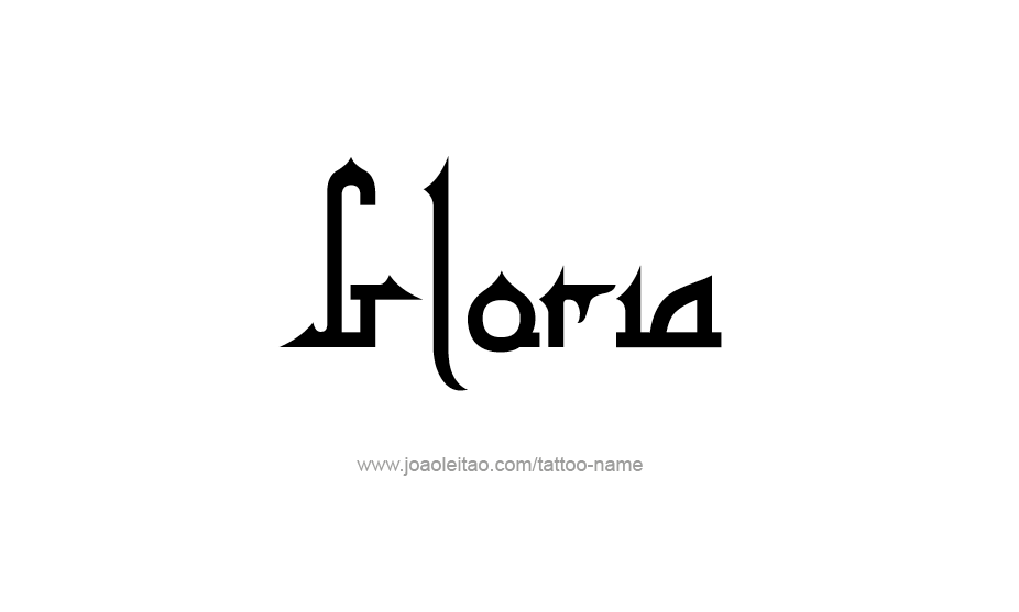 Tattoo Design Name Gloria